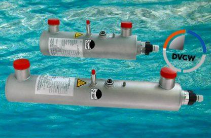 Reactor certificado de lámparas germicidas de ultravioleta para la desinfección de agua.