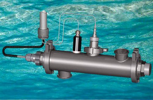 Reactor de lámparas germicidas de ultravioleta para la desinfección de agua. Grado farmaceutico