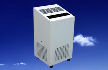 Equipo de tratamiento de aire por filtrado y lámparas de ultravioleta en presencia de personas