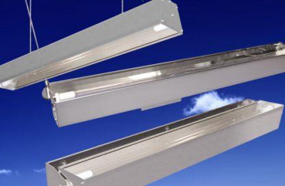 Lámparas germicidas de ultravioleta para la desinfección de superficies y salas