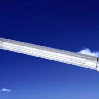 Lámpara germicida de luz ultravioleta con reflector de oro