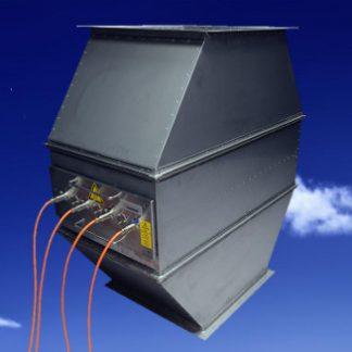 Sistema de desinfección por lámparas germicidas de ultravioleta para conductos de aire