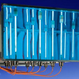 Sistema de desinfección por lámparas de ultravioleta con filtro incluido para conductos de aire