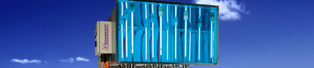 Desinfección por ultravioletas en conductos de aire.