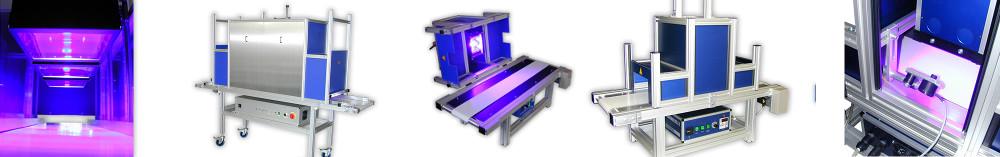 Curado ultravioleta en cintas de transporte