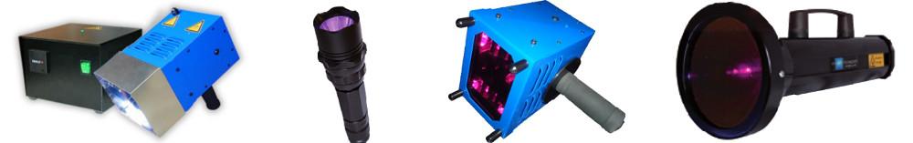Lámparas portátiles de luz UV para curado y luminiscencia