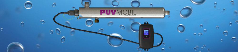 Reactor ultravioleta de bajo caudal para agua.