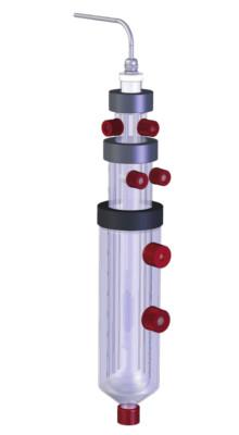 Fotoreactor de flujo lateral